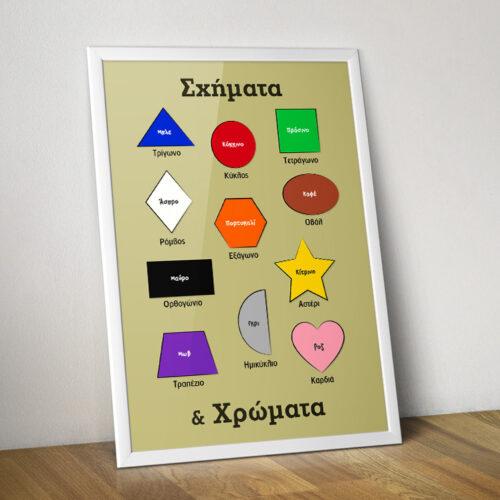 εκπαιδευτική αφίσα – Σχήματα & χρώματα